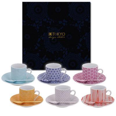 Set cafè Nippon colors 18 peces