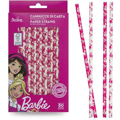 Set 80 canyetes paper bio Barbie