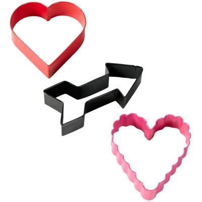 Set 3 talladors galetes de Sant Valentí