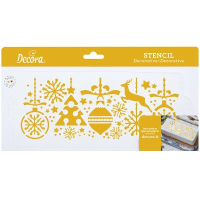 Stencil decoraciones de Nadal 10x28 cm
