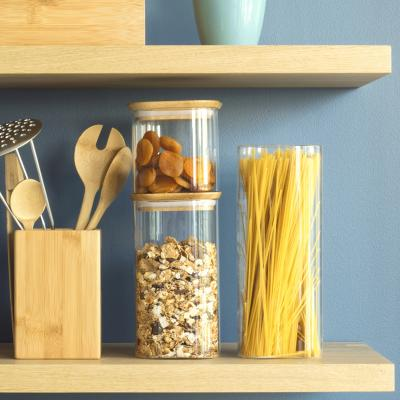 Pot cuina vidre borosilicat i tapa bambú