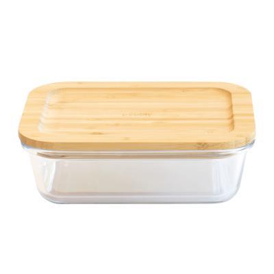Tupper vidre borosilicat amb tapa bambú Pebbly