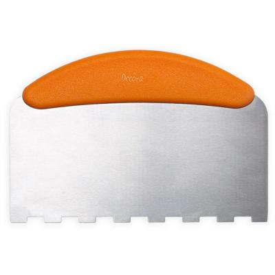 Espàtula rasqueta pastisseria dentada inox 22x11cm