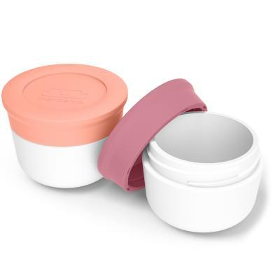 Set 2 pots condiments Bento Flamingo/blush