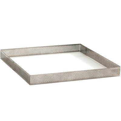 Quadrat rebosteria perforat alt inox 20x20x2 cm