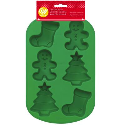 Motllo silicona 6 cavitats Nadal