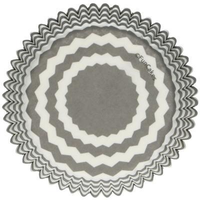 Paper cupcakes x48 Chevron gris