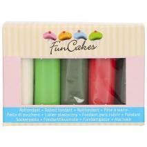 Set 5 fondants Funcakes 5x100 gr Navidad