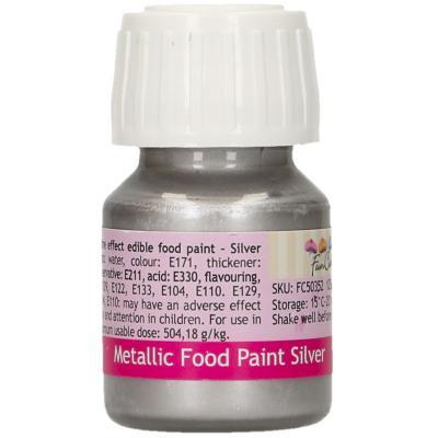 Pintura alimentària metàl.lica 30 ml Plata