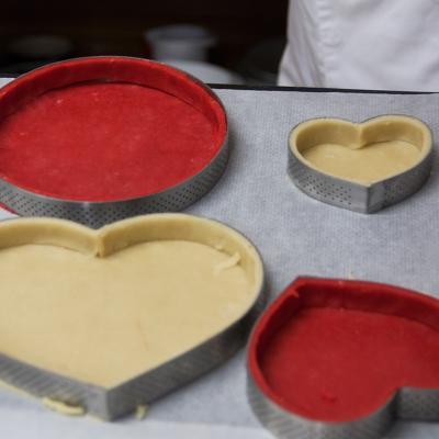 Anell tarta perforat De buyer cor