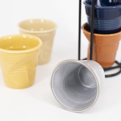 Tassa espresso arrugada Revol 80 ml blau caribe