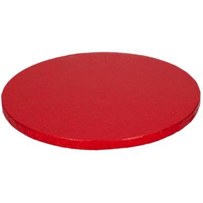 Base pastissos rodona 30 cm vermella