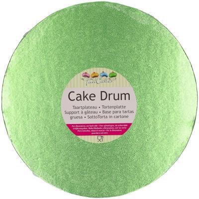 Base pastissos rodona 25 cm verda clar