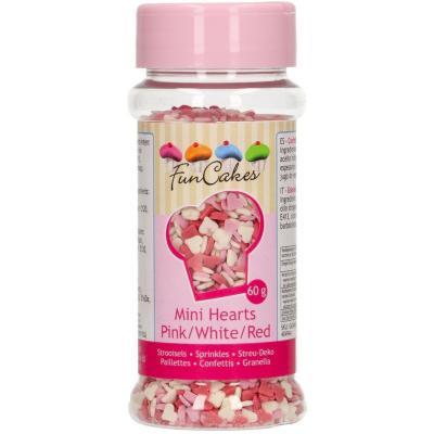 Sprinkles Mini Cors rosa/blanc/vermell 60 g
