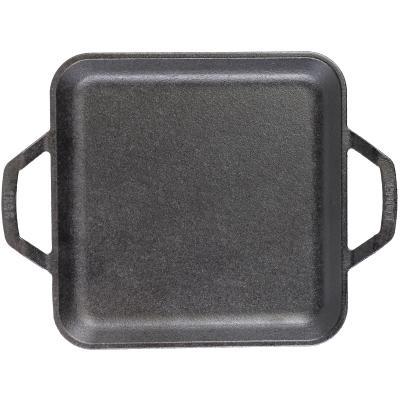 Planxa llisa quadrada ferro Lodge Chef 28 cm