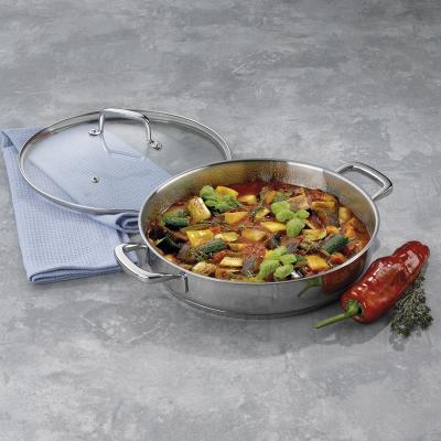 Cassola acer amb tapa vidre Flavoria 28 cm