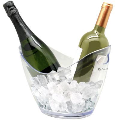 Cubitera transparente enfriar botellas