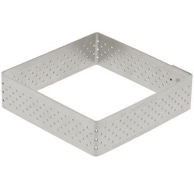 Anell tarta perforat quadrada 8x8 cm