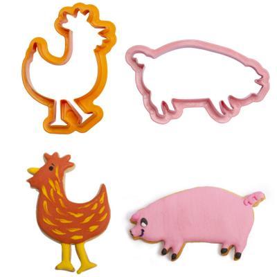 Set 4 talladors galetes Animals Granja