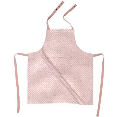 Davantal de cuina 100% cotó Dot rosa
