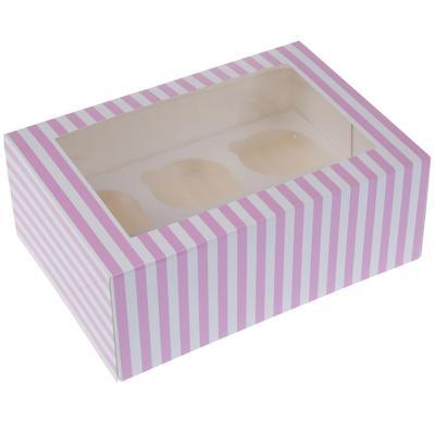 Set 2 caixes per 6 cupcakes Circ rosa