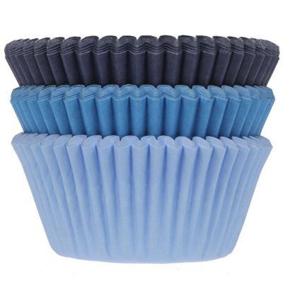 Paper cupcakes x75 mix blaus