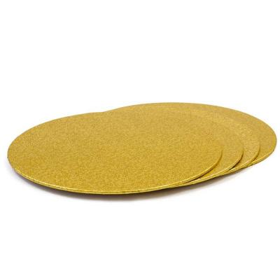 Base per pastissos rodona daurada 3 mm