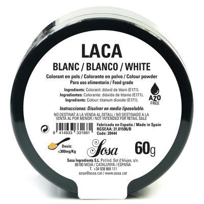 Colorant laca liposoluble pols 60 g blanc