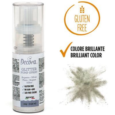 Spray pump comestible brillant 10 g plata