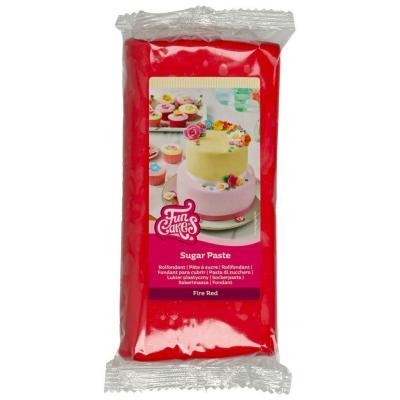 Fondant Funcakes 1 kg vermell