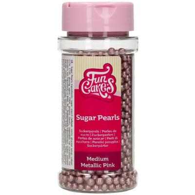 Sprinkles perles sucre 4 mm 80 g rosa metal.litzat