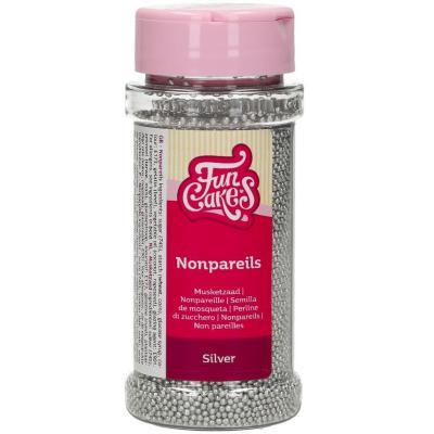 Sprinkles nonpareils Funcakes 80 g plata