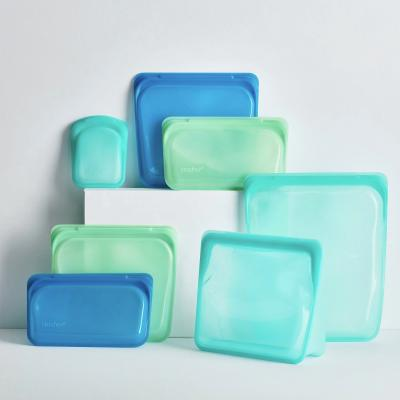Bossa silicona reutilizable Stasher S de peu aqua