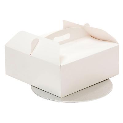 Caixa per pastissos amb nansa i base 23x23x10