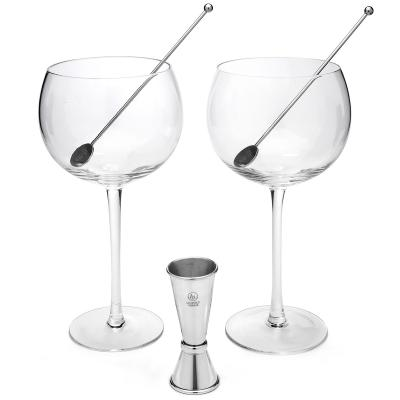Set Gin Tonic 2 copes, mesurador i 2 culleres