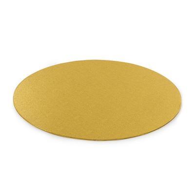 Base para pasteles redonda dorada 3 mm