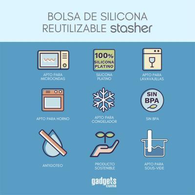 Bossa silicona reutilitzable Stasher mitjana