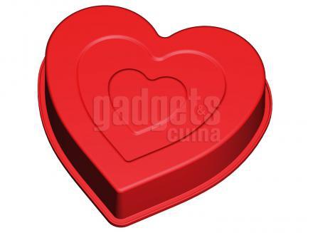 Molde corazón silicona 1,3 L