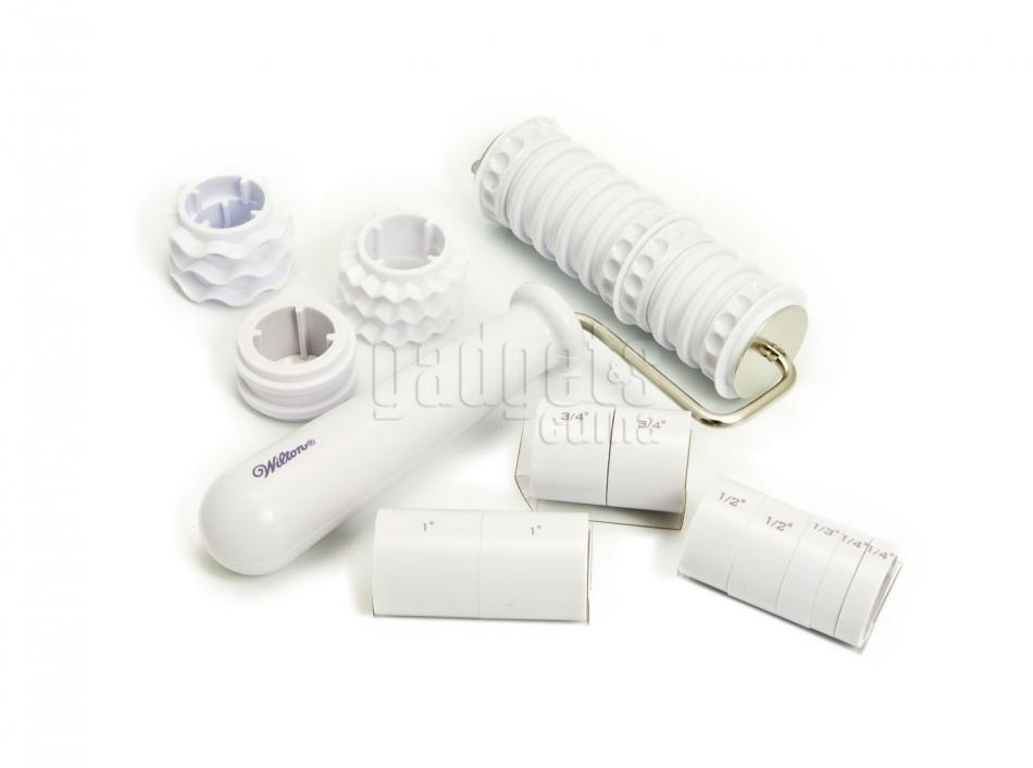 Rodillo cortador para relieve y cintas fondant gadgets - Rodillos con relieve ...