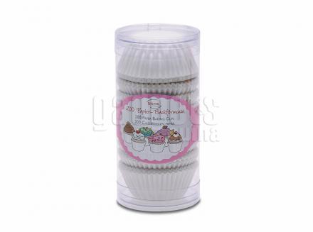 Papel Mini cupcake blanco x200