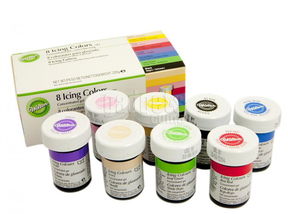 juego 8 colorantes wilton icing color 28 g - Colorant Wilton