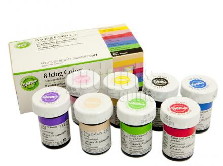 Juego 8 colorantes Wilton icing color 28 g