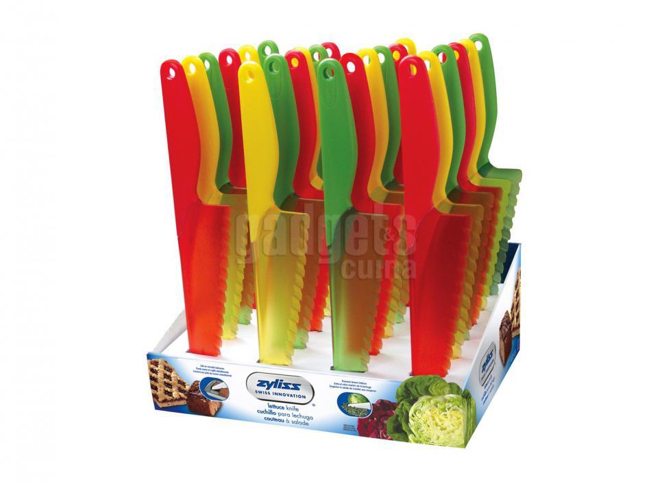 Cuchillo lechuga colores transparentes gadgets cuina for Cuchillo fruta