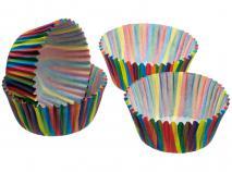 Papel cupcakes rayas x 60