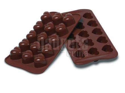 Molde bombones silicona Monamour x15 cav.