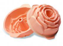 Molde rosa silicona 22 cm