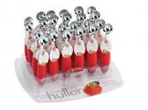 Cuchara sacacorazones de fresas y tomate
