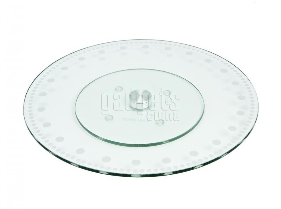 Base cristal giratoria para pasteles 30 cm gadgets cuina - Mesa de centro giratoria ...