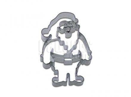 Cortador galletas Papá Noel relieve 8 cm
