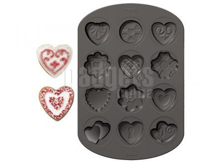 Molde aluminio antiadherente galletas x 12 cav Cor